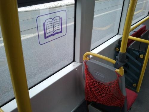 Czytelnia w gdańskich tramwajach